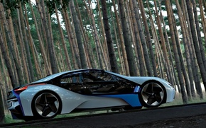 Wallpaper BMW, the concept, forest