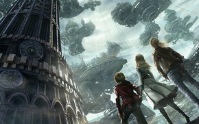 Picture girl, guys, resonance of fate