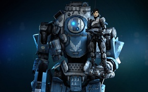 Picture robot, robot, Shepard, Mass effect, Alliance, Titan, Titanfall