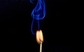 Picture smoke, texture, Match, Studio.