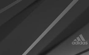 Picture grey, background, black, logo, logo, Adidas, adidas
