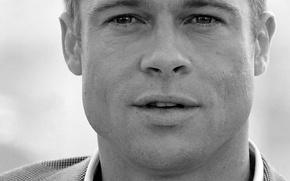 Wallpaper Brad Pitt, grey, Brad Pitt