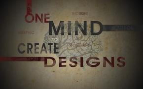 Picture creative, the inscription, brain