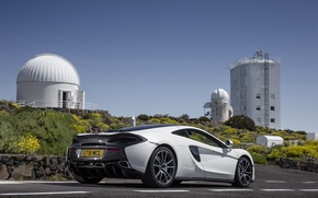 Picture car, auto, McLaren, white, supercar, auto, back, McLaren, 570GT