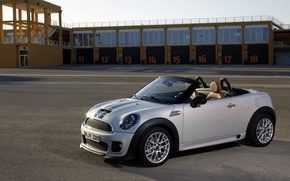 Picture Roadster, Road, Convertible, Grey, Garage, Mini Cooper, MINI, Coupe