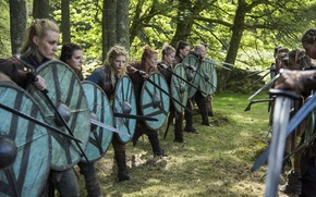 Picture The Vikings, Lagertha, Katheryn Winnick, war, Vikings, Stroy