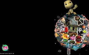 Picture black, the game, planet, large, game, Little Big Planet, little, computer games, sackboy, video games, …