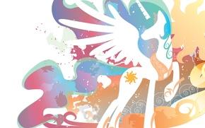 Picture wings, Princess, My Little Pony, Celestia