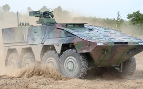 Picture GTK Boxer, the German-Dutch multirole armored vehicle, Armoured Transport Vehicle Boxer, Wheel floating combat armored …