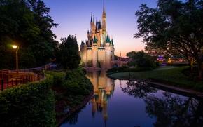 Picture castle, Morning, Morning, Magic Kingdom, Magic Kingdom