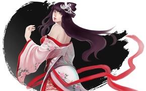 Picture girl, figure, art, tape, kimono, syusuke0229
