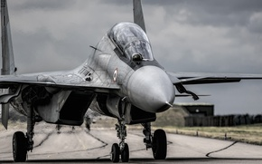 Picture the airfield, Su-30, multi-role fighter, MKИ