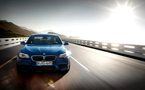 Picture road, car, machine, the sky, the sun, speed, road, sky, 1920x1200, sun, speed, bmw m5 …