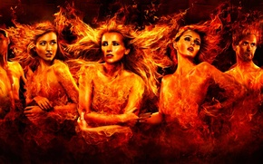 Picture girls, fire, male, IAIN CRAWFORD, FASHION
