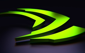 Picture green, nvidia, logo