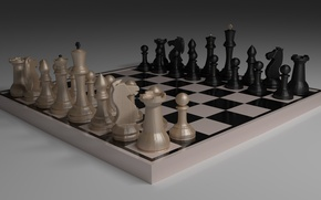 Picture Chess, render, 3D graphics