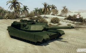 Picture palm trees, desert, abrams, m1a2, armored warfare