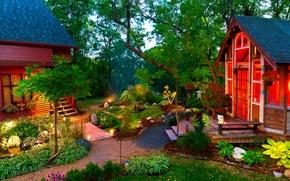 Picture lights, home, interior, garden