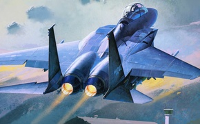 Picture figure, the rise, fighter-bomber, Republic of Korea Air Force, slam eagle, F-15K
