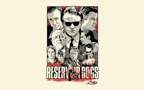 Picture white, blood, Thriller, drama, Reservoir dogs, Reservoir Dogs, Quentin, Tarantino, cult