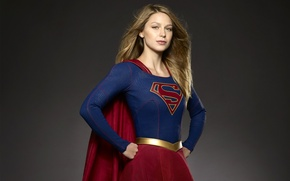 Picture girl, pose, background, fiction, hairstyle, costume, the series, comic, DC Comics, TV Series, Supergirl, 2015, ...