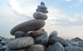 Picture The sky, Baikal, Stones