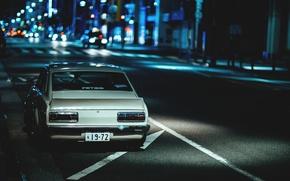 Picture night, street, night, street, datsun, Datsun