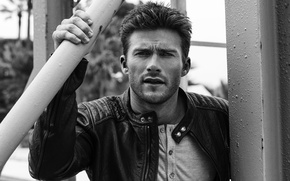 Picture portrait, black and white, jacket, actor, The Gentlemans Journal, Philipp Mueller, Scott Eastwood, Scott Eastwood, ...