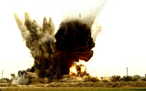 Wallpaper the explosion, bomb, airstrike