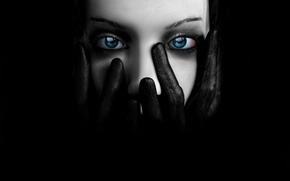 Picture Black, Eyes, Gloves