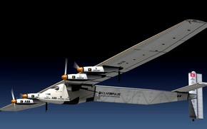 Picture the plane, fly, due, able, the energy of the Sun, Solar Impulse 2