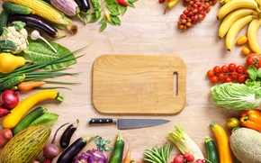 Wallpaper banana, pepper, tomatoes, beets, food, vegetables, peppers, zucchini, cabbage, plum, corn, melon, eggplant, grapes, vegetables, ...