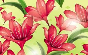 Wallpaper flowers, petals, collage