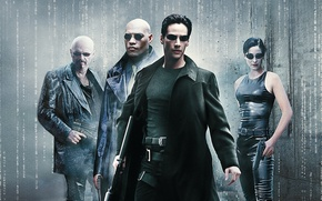 Picture Action, Fantasy, Neo, Supernatural, Wallpaper, Guns, Keanu Reeves, The Matrix, Trinity, Movie, Film, Sci-Fi, Laurence …