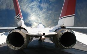 Picture the sky, turbine, nozzle