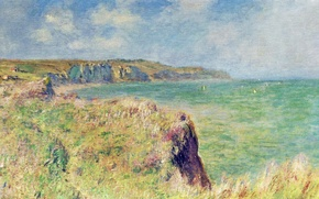 Picture landscape, picture, Claude Monet, The edge of a Cliff in Purvile