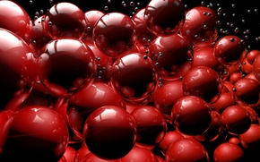 Picture red, gloss, sphere, render