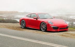 Picture 911, Porsche, Porsche, red, Carrera, 2015, Carrera 4S