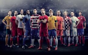 Picture Nike, Ronaldo, Sneijder, Euro 2012, Neymar, Modric, Dempsey