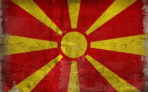Picture flag, color, Macedonia