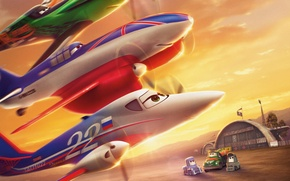 Wallpaper Walt Disney, action, adventure, animation, Bulldog, wings, Walt Disney, wings, air race, Ripslinger, Tanya, Tanya, ...