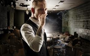 Picture tattoo, cigarette, male, metal, Mohawk, stone, Slipknot, nu metal, alternative, stone sour, sour, Corey Taylor, …