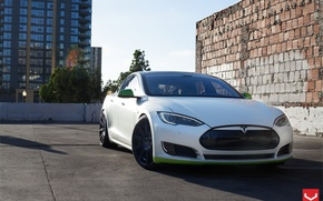 Picture Model, Tesla, Custom, Vossen, Wheels, Concave, CV4