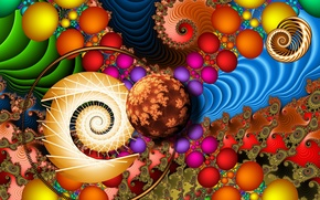 Picture abstraction, color, form, fractal