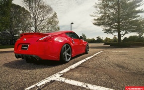Picture car, machine, red, nature, Wallpaper, Nissan, 370z