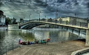 Picture river, Moscow, Russia, Russia, river, bridge, Moskow, Luzhkov bridge