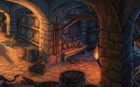 Picture wine, torch, rats, bottle, pitcher, cellar, wine, kegs, jp selwood, cellar