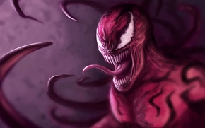 Picture fangs, art, Marvel Comics, Spider-Man, carnage, Cletus Kasady, parasite