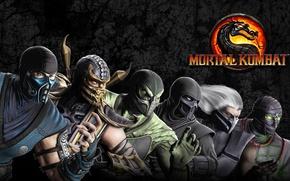 Picture dragon, Scorpio, ninja, Mortal Kombat, Sub-Zero