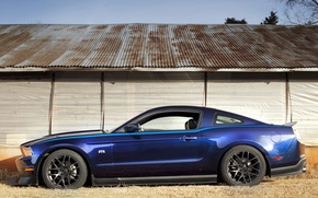Wallpaper blue, Mustang, RTR, muscle, Package